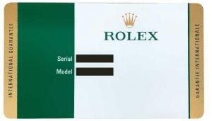 ロレックスギャランティカード