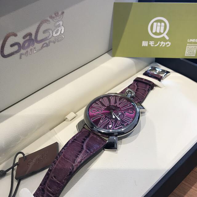 鶴橋のお客様からガガミラノの腕時計【マヌアーレ】を買取_01