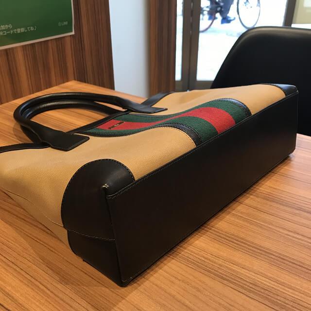 天王寺のお客様からグッチの【シェリーライン】のトートバッグを買取_02