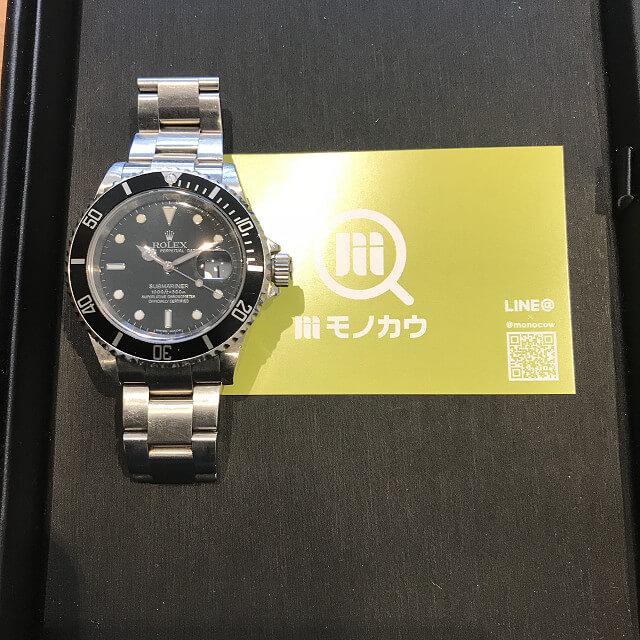 上本町のお客様からロレックスの腕時計【サブマリーナー】を買取_01