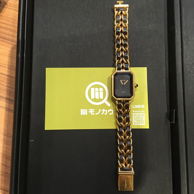 鶴見のお客様からシャネルの腕時計【プルミエール】を買取_01