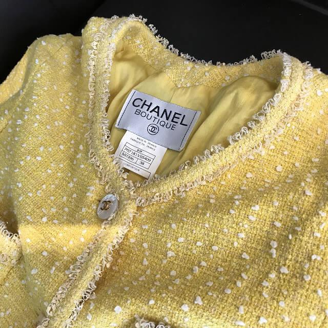 北浜のブランド出張買取でシャネルのツイードジャケットを買取_02