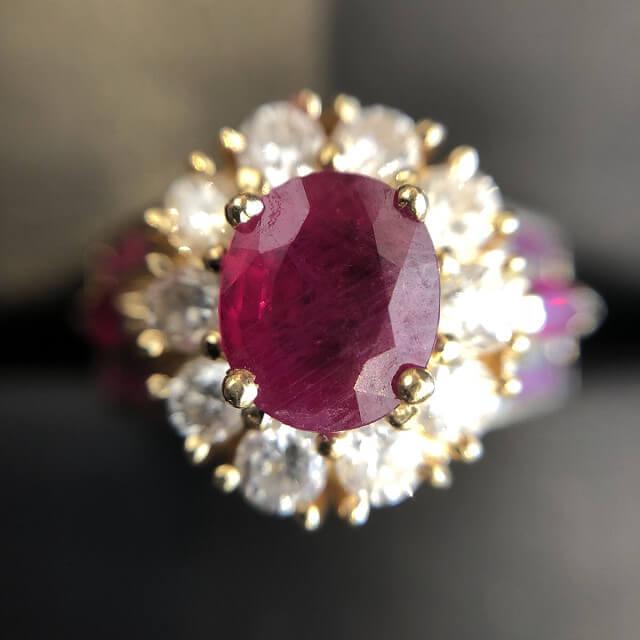 鶴橋のお客様からルビー×ダイヤの指輪を買取_01