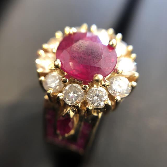 鶴橋のお客様からルビー×ダイヤの指輪を買取_02