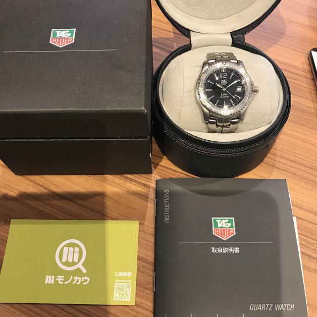 宇都宮のお客様からタグホイヤーの腕時計【LINK(リンク)】を買取_01