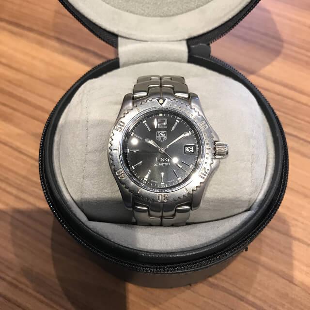 宇都宮のお客様からタグホイヤーの腕時計【LINK(リンク)】を買取_02