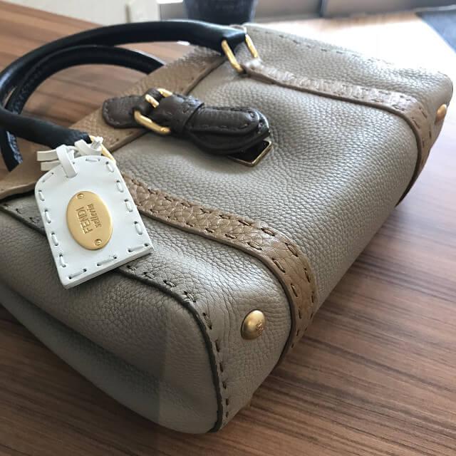 心斎橋のお客様からフェンディのセレリア素材のバッグ【ミニリンダ】を買取_02