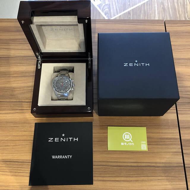 博多のお客様からゼニスの腕時計【クロノマスター】を買取_04