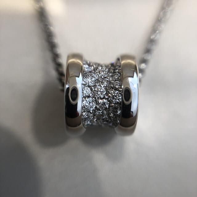 阿波座のお客様からブルガリの【B-Zero1】ダイヤネックレスを買取_02