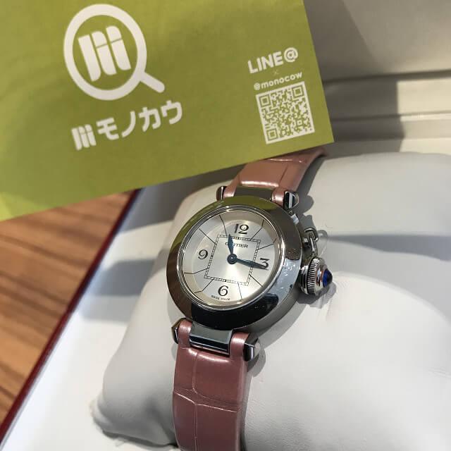 大阪市福島区のお客様からカルティエの腕時計【ミスパシャ】を買取_01