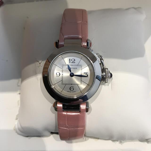 大阪市福島区のお客様からカルティエの腕時計【ミスパシャ】を買取_02