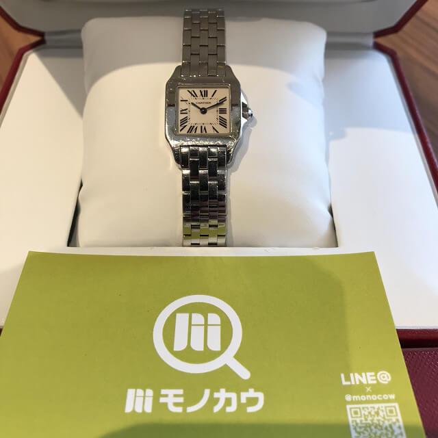 仙台のお客様からカルティエの腕時計【サントスドゥモワゼル】を買取_01