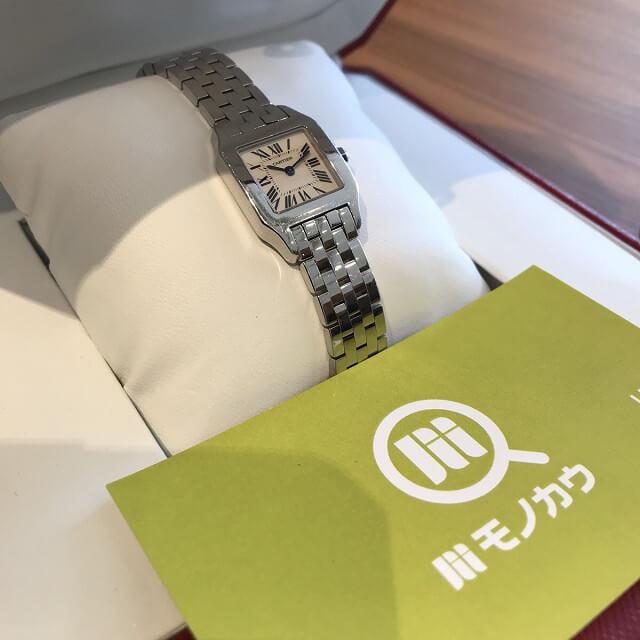 仙台のお客様からカルティエの腕時計【サントスドゥモワゼル】を買取_02