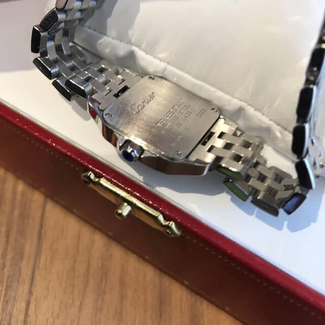 仙台のお客様からカルティエの腕時計【サントスドゥモワゼル】を買取_03