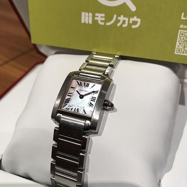 堺のお客様からカルティエの腕時計【タンクフランセーズ】を買取_01