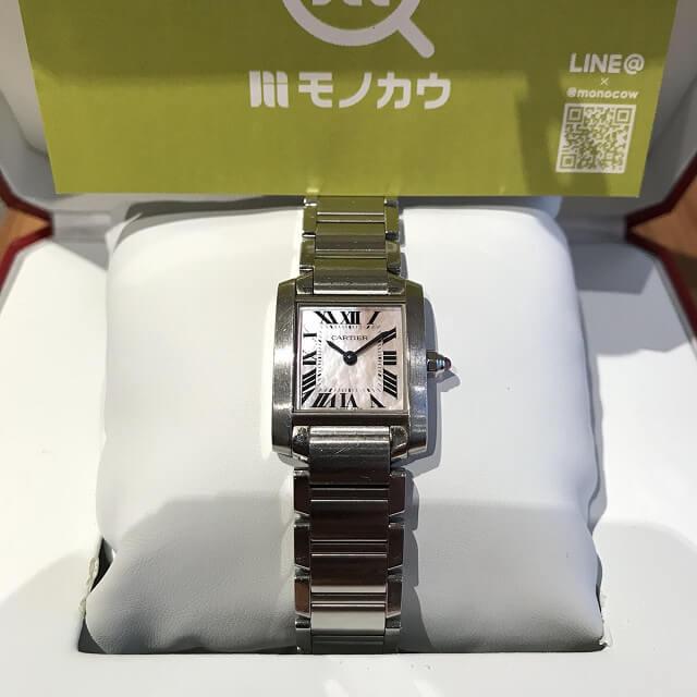 堺のお客様からカルティエの腕時計【タンクフランセーズ】を買取_02
