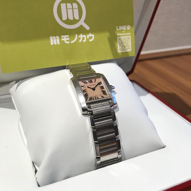 堺のお客様からカルティエの腕時計【タンクフランセーズ】を買取_03