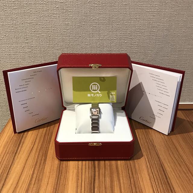 堺のお客様からカルティエの腕時計【タンクフランセーズ】を買取_04