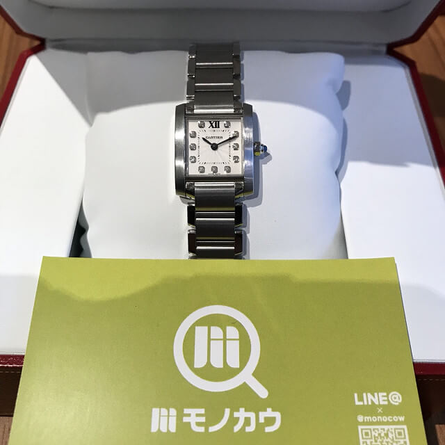 野田阪神のお客様からカルティエの腕時計【タンクフランセーズSM】を買取_01