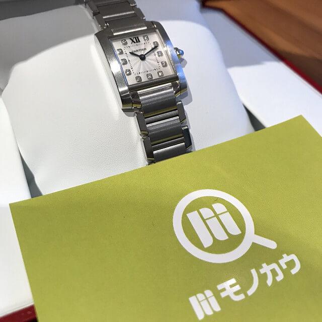 野田阪神のお客様からカルティエの腕時計【タンクフランセーズSM】を買取_02
