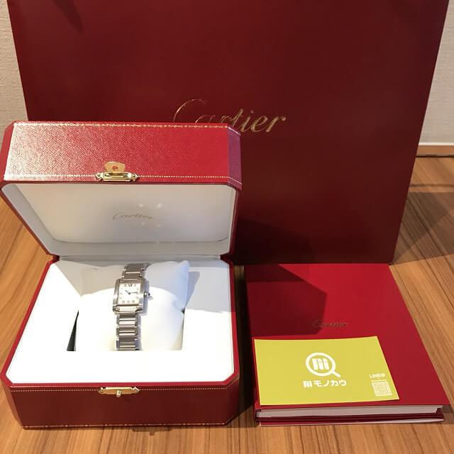 野田阪神のお客様からカルティエの腕時計【タンクフランセーズSM】を買取_04