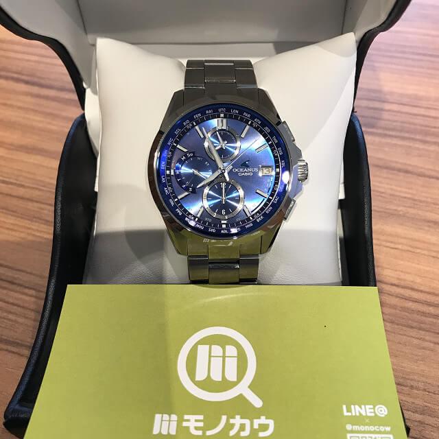 森ノ宮のお客様からカシオの腕時計【オシアナス】を買取_01