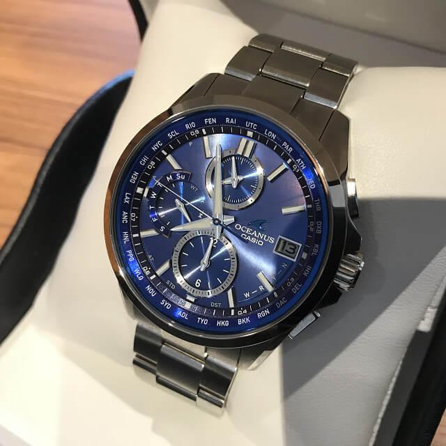 森ノ宮のお客様からカシオの腕時計【オシアナス】を買取_02