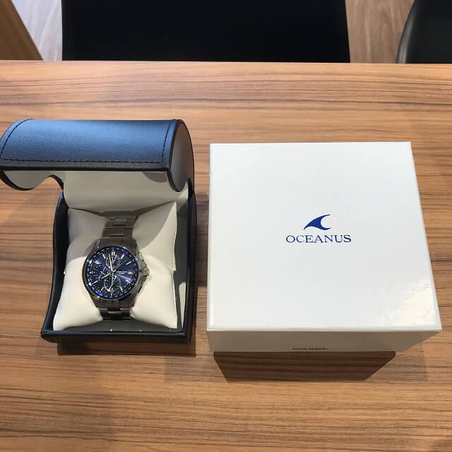 森ノ宮のお客様からカシオの腕時計【オシアナス】を買取_04