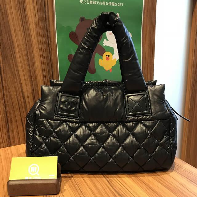 上本町のお客様からシャネルのバッグ【コココクーン】を買取_01