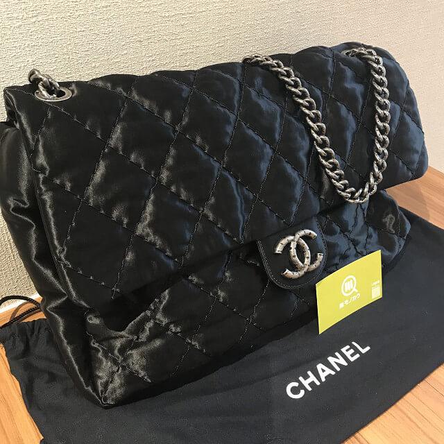 静岡のお客様からシャネルのサテン生地のバッグ【デカマトラッセ】を買取_02