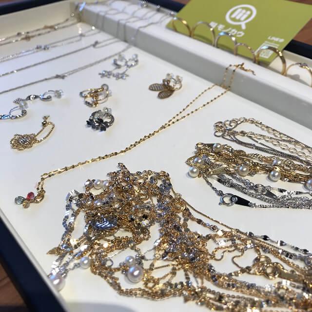 森ノ宮のお客様から18金のネックレスやダイヤの指輪を買取_02