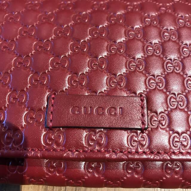 北巽のお客様からグッチの【マイクロシマ】長財布を買取_03