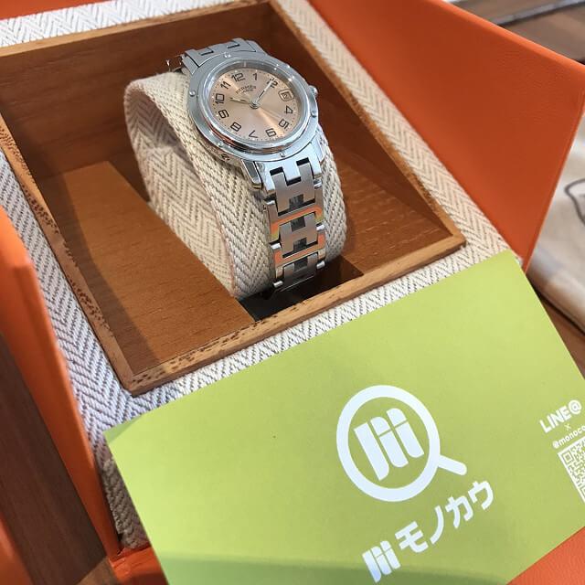 岐阜のお客様からエルメスの腕時計【クリッパー】を買取_02