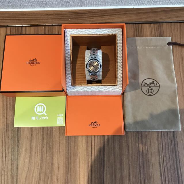 岐阜のお客様からエルメスの腕時計【クリッパー】を買取_03