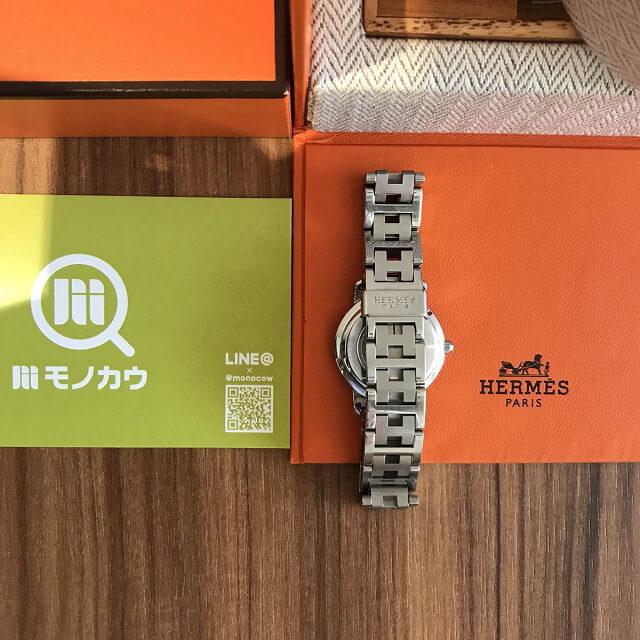岐阜のお客様からエルメスの腕時計【クリッパー】を買取_04