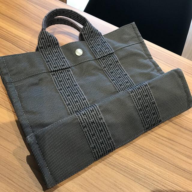 神戸市垂水からエルメスのエールライントートバッグを買取_02