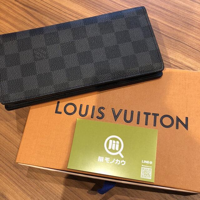 奈良のお客様からヴィトンの長財布【ポルトフォイユ・ブラザ】を買取_02