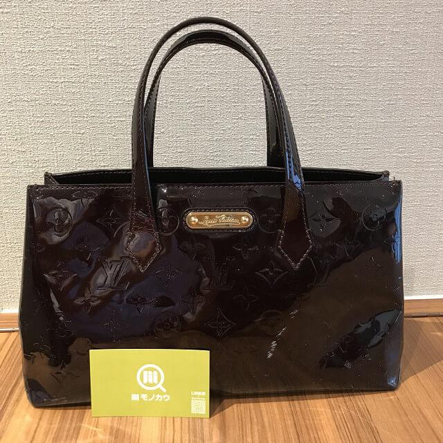 津島のお客様からヴィトンのヴェルニのバッグ【ウィルシャーPM】を買取_01