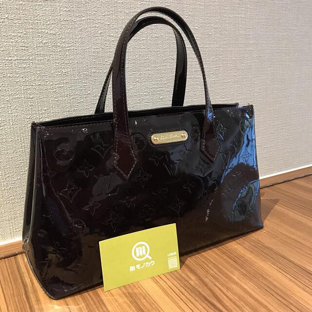 津島のお客様からヴィトンのヴェルニのバッグ【ウィルシャーPM】を買取_02