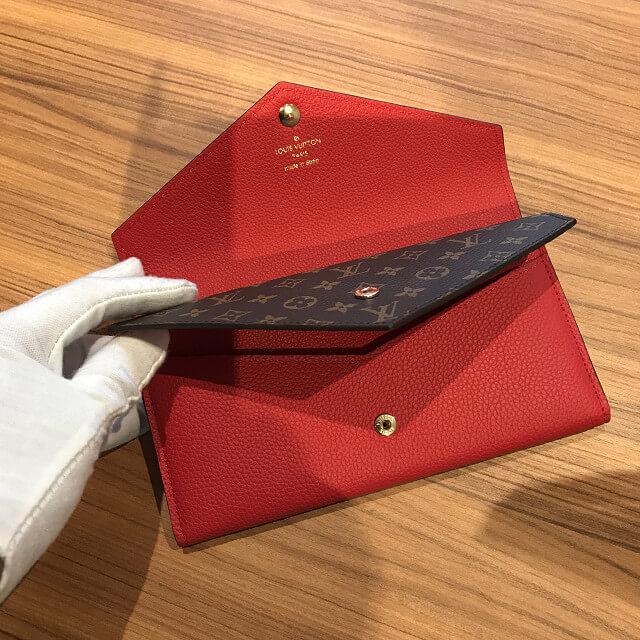 十三のお客様からヴィトンの新品の財布【ポルトフォイユ・ドゥブルV】を買取_03
