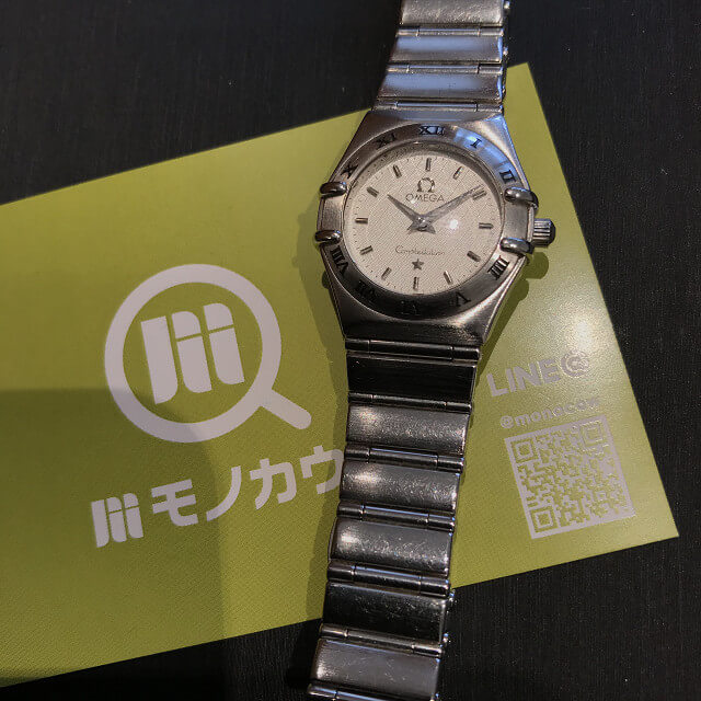 上大岡のお客様からオメガの腕時計【コンステレーション】を買取_01