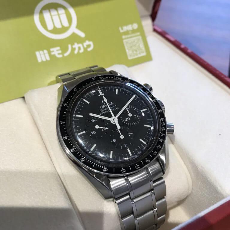 大阪市天王寺区のお客様からオメガのスピードマスターを買取_01