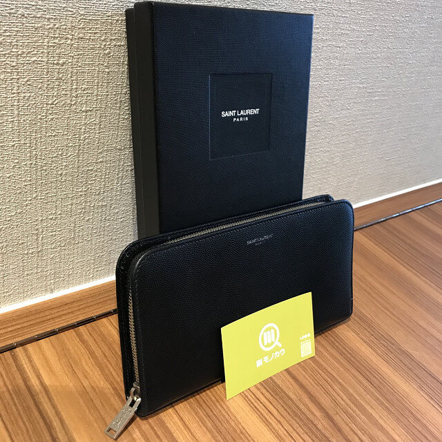 大阪市東住吉のお客様からサンローランの財布を買取_02