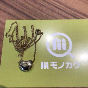北巽のお客様からティファニーの18金【ビーンズ】ネックレスを買取
