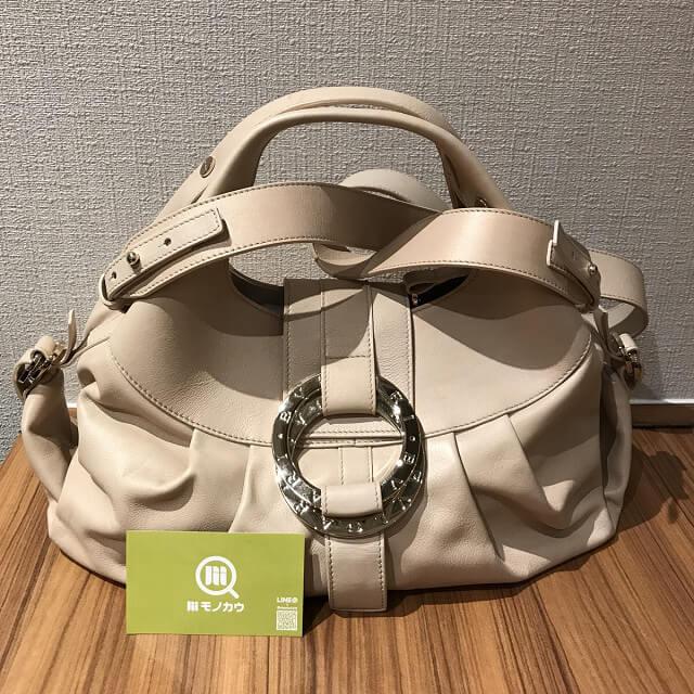 出戸のお客様からブルガリのバッグ【チャンドラ】を買取_01