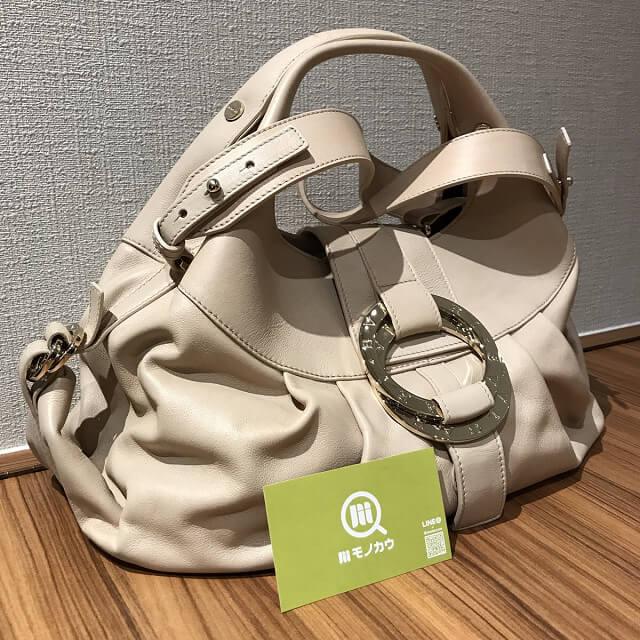 大阪市平野区出戸のお客様からブルガリのバッグ チャンドラを買取_02
