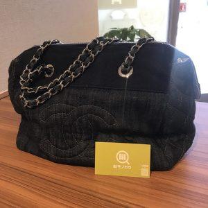 西宮のお客様からシャネルのデニムチェーンバッグを買取