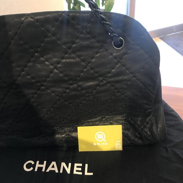 西宮のお客様からシャネルのボーリングバッグを買取_02