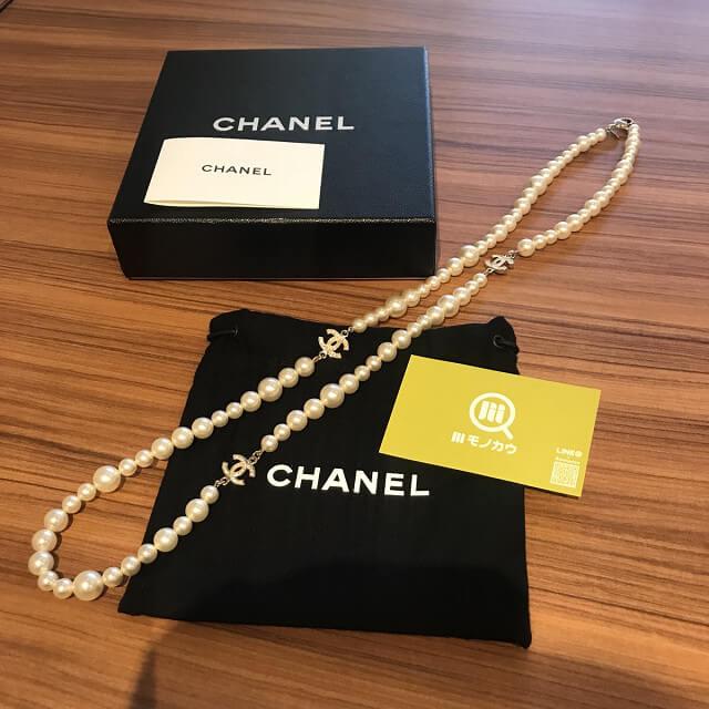 西宮のお客様からシャネルのパールネックレスを買取_01