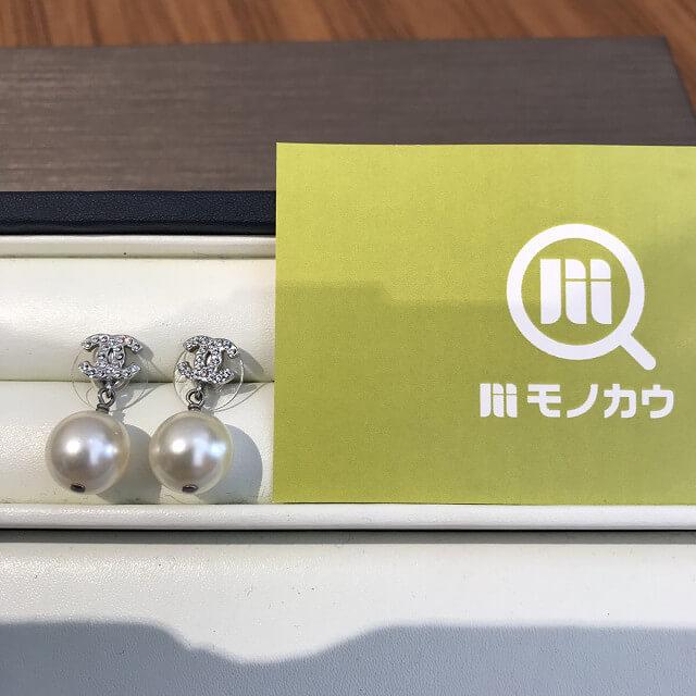 鶴橋のお客様からシャネルのパール付きピアスを買取_01